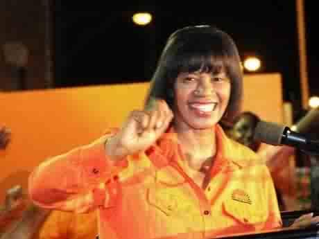 Portia Simpson-Miller, Jamaica's new prime minister