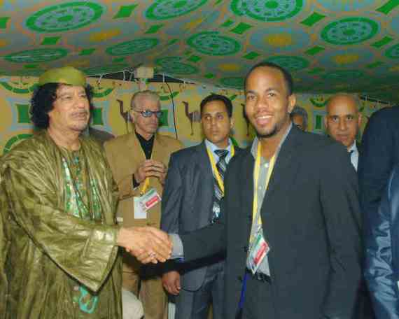 Luke Browne and His Idol, Gaddafi